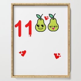 11 Years Great Pear Eleventh Anniversary graphic Serving Tray