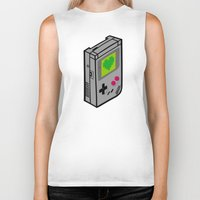 gameboy Biker Tanks featuring Gameboy Love by Artistic Dyslexia