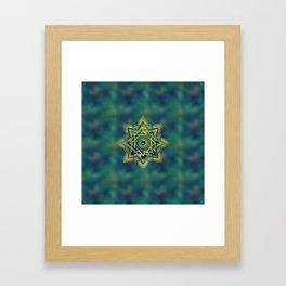 Golden Decorative Star of Lakshmi - Ashthalakshmi Framed Art Print