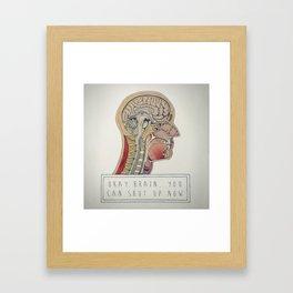 Loud Brain Framed Art Print