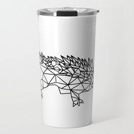 Geometric Low poly dinosaur Travel Mug