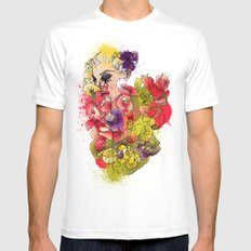 When the Petals Start Pouring Mens Fitted Tee White MEDIUM