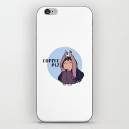 Coffee PLZ iPhone Skin