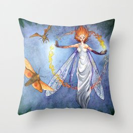Will O' the Wisp Throw Pillow