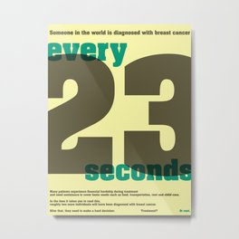 Every 23 seconds Metal Print