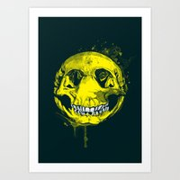 be happy Art Prints featuring happy by Steven Toang