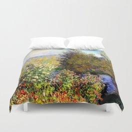 Claude Monet : A Corner of the Garden at Montgeron Duvet Cover
