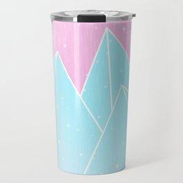 Sparkly Blue Crystals Design Travel Mug