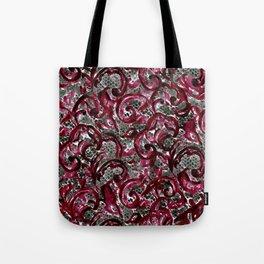 Vintage Lace Watercolor Halloween Tote Bag