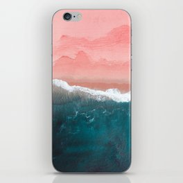 Turquoise Sea Pastel Beach II iPhone Skin