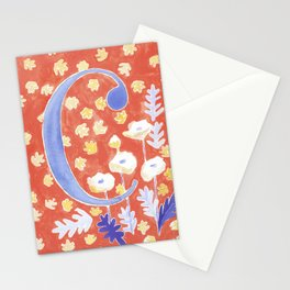 Bright and Cheery Letter C Monogram Stationery Cards