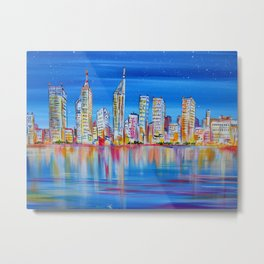 Perth Skyscrapers Metal Print