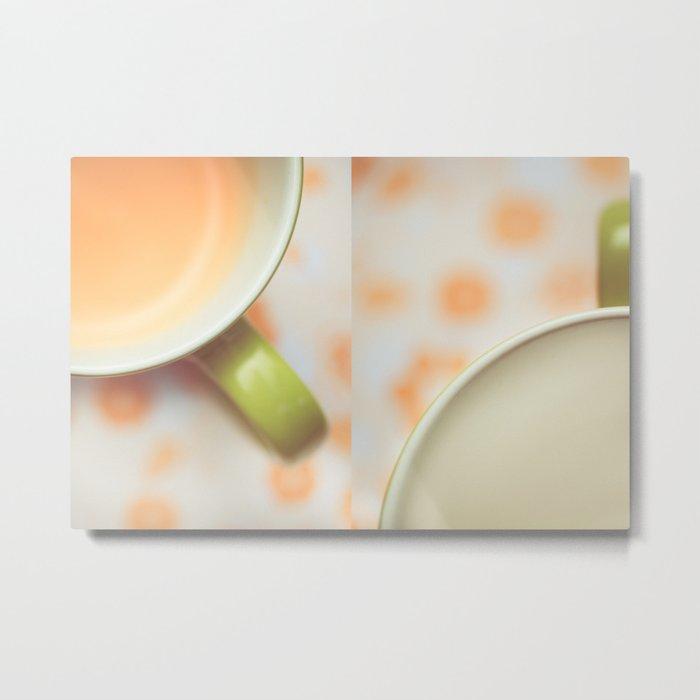 Opposites Love - Coffee Metal Print