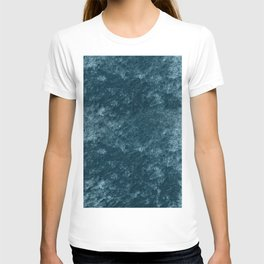 Peacock teal velvet T-shirt