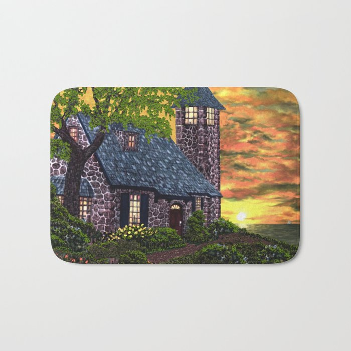 Essex House Lighthouse by Ave Hurley  Bath Mat