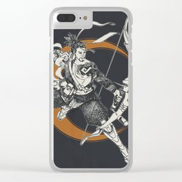 Hanzo - Moon Clear iPhone Case