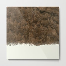 Dipped Wood - Walnut Burl Metal Print
