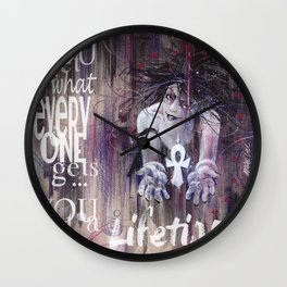 A Lifetime Wall Clock