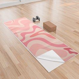 Liquid Swirl Abstract in Soft Pink Yoga Towel