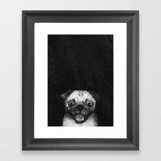 Snuggle pug Framed Art Print