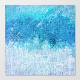Abstract textured Teal blue Art Canvas Print