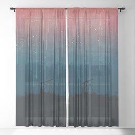 Meteor rain Sheer Curtain