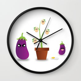 Egg Plant Wall Clock