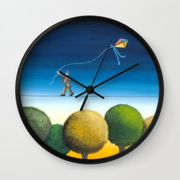 Over the trees Wall Clock