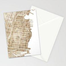 Hoboken New Jersey city map Stationery Cards