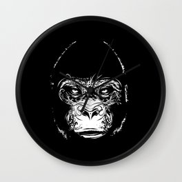 Head of a gorilla Wall Clock