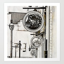 Ye Olde Shoppe Signs Art Print