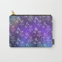 """Never Stop Looking Up"" Celestial Unicorn Pattern Carry-All Pouch"