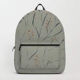 Branches on pale grey green Backpack