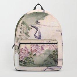 Edouard Manet - A Garden Urn Backpack