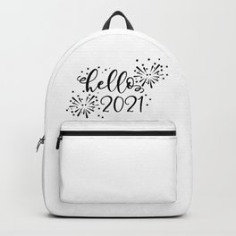 Hello 2021 New Year Celebration Backpack