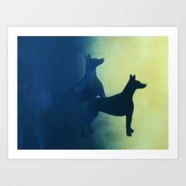 Dogs Do Hump Art Print