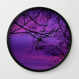 Purple Haze (Black Tree) - Jeronimo Rubio Photography 2016 (All Over Print) Wall Clock