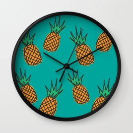 Aesthetics: abstract pattern - pineapples Wall Clock