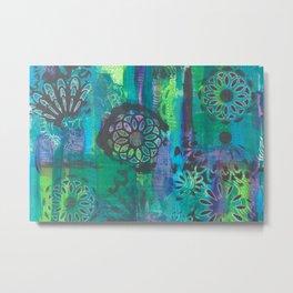 Kalediscopic Peacock Metal Print