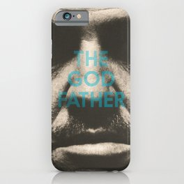 The Godfather, minimalist movie poster, Marlon Brando, Al Pacino, Francis Ford Coppola gangster film iPhone Case