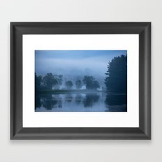 Peaceful Blue Framed Art Print