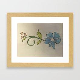 Bloemetjes voor vallentyn Framed Art Print