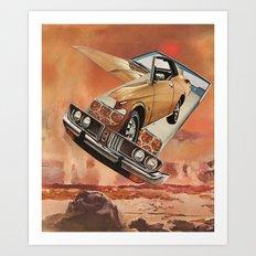 serene pleasure of speed - goofbutton collaboration #4 Art Print