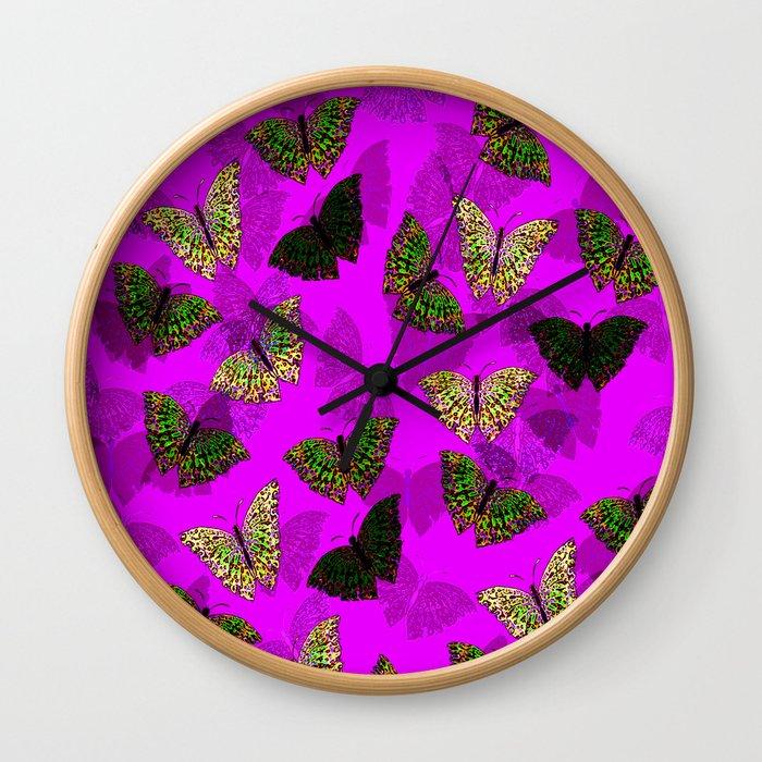 PurpleLightButterfly Wall Clock