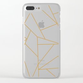 Geometric Gold Hexagon Pattern Clear iPhone Case