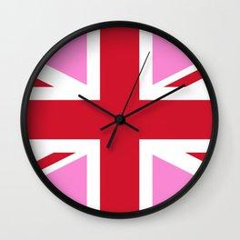 Gay Pink UK Pride Flag Wall Clock