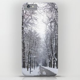 Innsbruck snowed out street iPhone Case