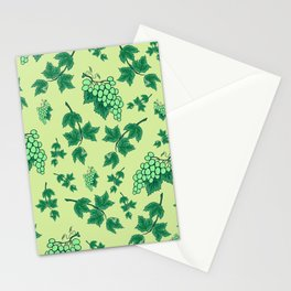 Seamless background from bunches of grapes Stationery Cards