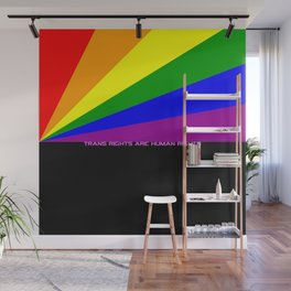 Trans rights are human rights Wall Mural