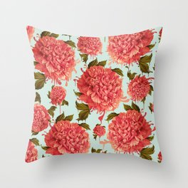A Splash of Peony, A Dash of Color Throw Pillow